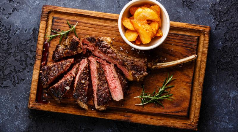 Tábua de carne para churrasco